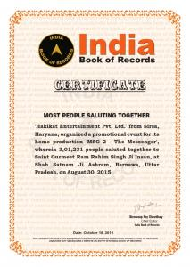 Most People Saluted Together (18 Oct,2015)